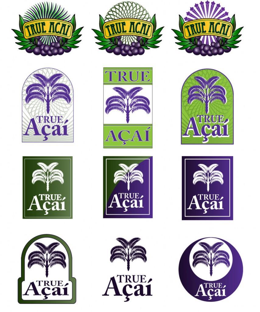 True Acai Logos